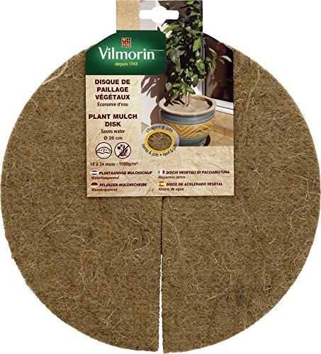 Vilmorin VH06064 Disque de Paillage Végétaux Chanvre/Jute 1000 g/m² 26 cm