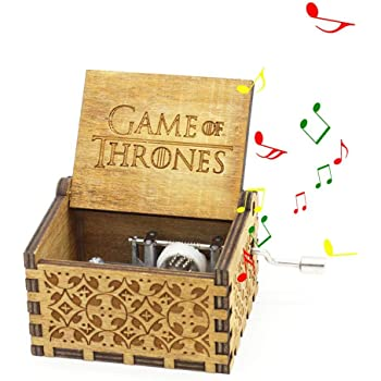 Game of Thrones Meiion Premier Bo/îte /à musique,Game of Thrones Classic DIY grav/é en bois Bo/îte d/écorative cadeaux de No/ël Pure main-classique Star Wars bo/îte /à musique