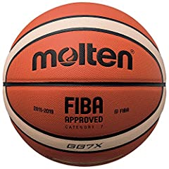 FIBA Approved Premium Composite Leather Cover Butyl Bladder Indoor Use 2- Year Warranty For optimal performance, additional inflation may be required. Ball pump not included.