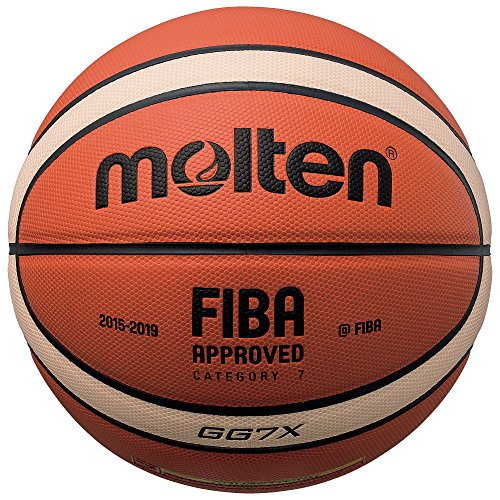Molten X-Composite Basketball, FIBA Approved – BGGX, Orange/Braun, Intermediate Size 6
