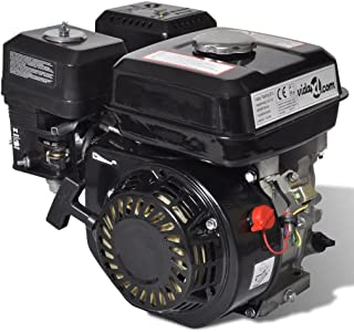 vidaXL Motor de Gasolina Negro 6,5HP 4,8kW Recambio Coche