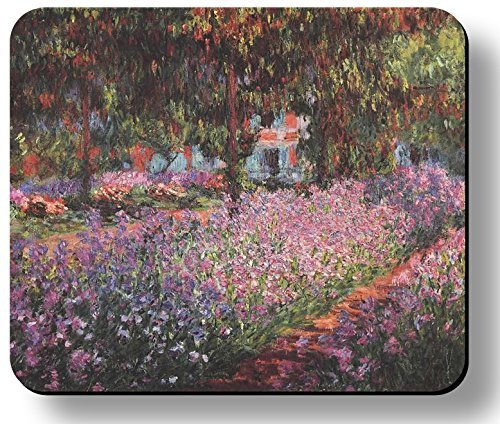 Decorative Mouse Pad Art Print Monet Artists Garden