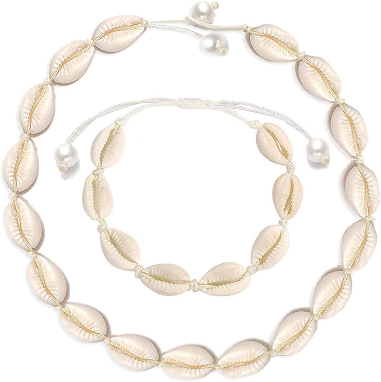 Cilkus Reservation Colorado Springs Mall Natural Shell Necklace Bracelet Handmade Anklet Set Adju