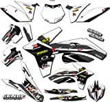 2008-2017 RMZ 450, Podium White Complete Graphics Kit, Senge Graphics, Compatible with Suzuki