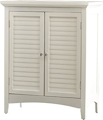 "Broadview Park 26"" x 32"" Cabinet - Featuring 2 Adjustable Shelves Behind Double Shutter Door - Clear diagram style - 1 Year Warranty! (White)"