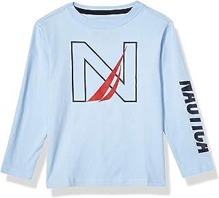 Nautica Boys' Long Sleeve Screen Print Graphic T-Shirt