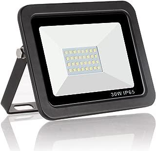 30W Led Flood Light Outdoor, Daylight 6000K 3000LM Waterproof, Reflector High Power Spotlight