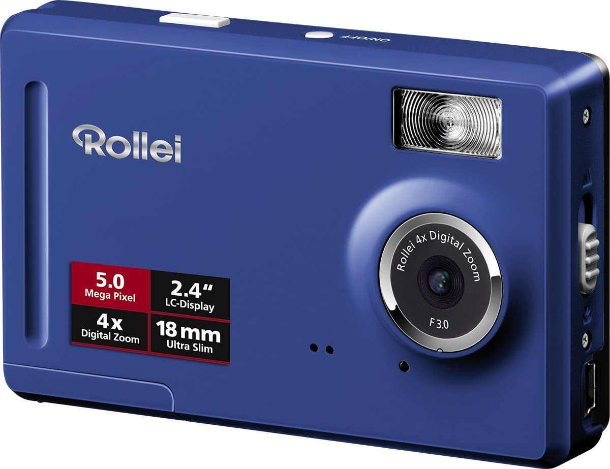 Rollei Compactline 50 Digitalkamera 2 4 Zoll Blau Kamera