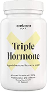 Supplement Spot Triple Hormone Capsules | Natural Hormone Balance Supplements with Melatonin, DHEA, and Pregnenolone | Hor...