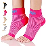 Dowellife Plantar Fasciitis Socks, Ankle Brace Compression Support Sleeves & Arch Support, Foot Compression Sleeves, Ease Swelling, Achilles Tendonitis, Heel Spurs for Men & Women (Pink S)