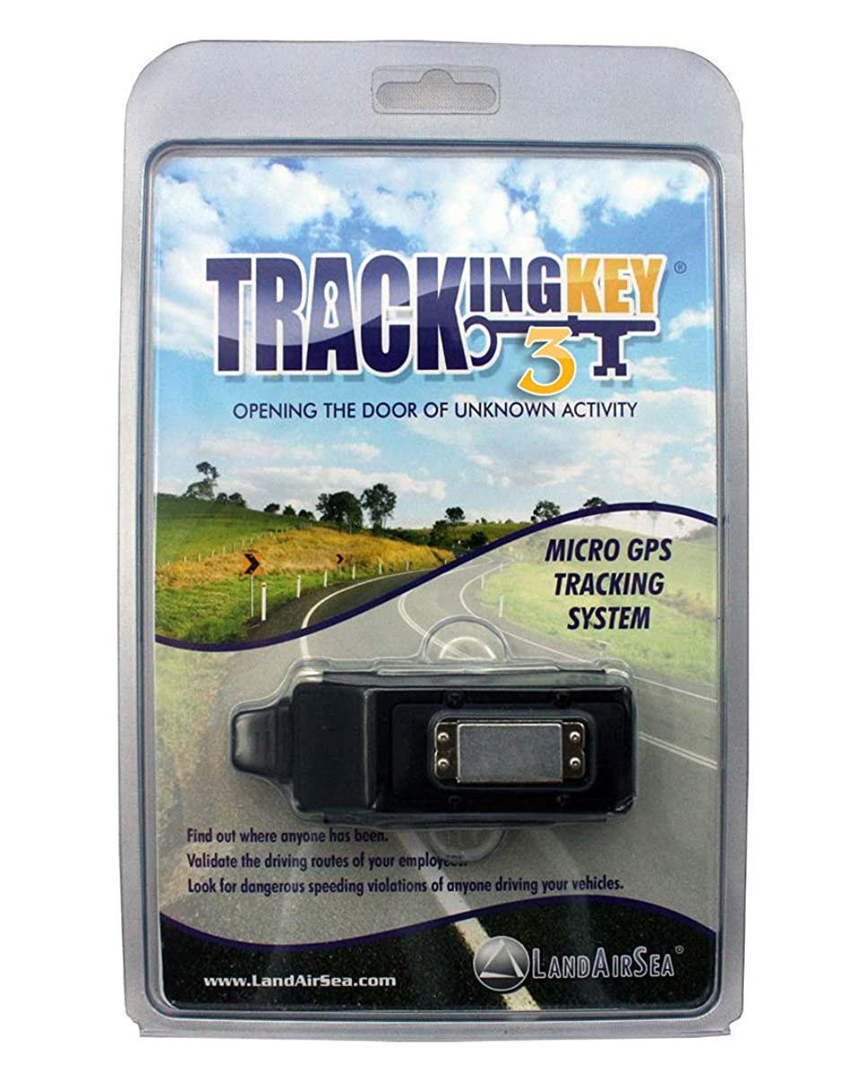 LandAirSea Tracking Key 3 - Passive GPS Tracker with No Monthly Fees, Magnetic and Discreet, Location Recording, Detailed Route History