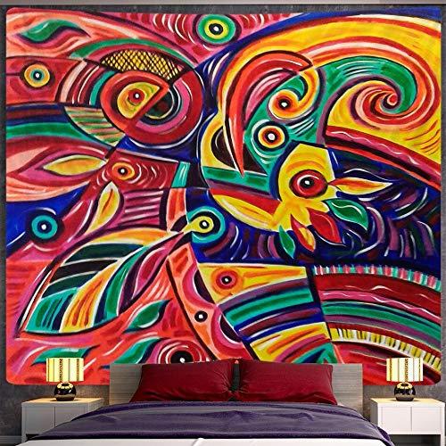 Boceto abstracto personaje tapiz estilo boho decoración de la pared decoración del arte del hogar mandala tapiz tela de fondo a3 180x200cm