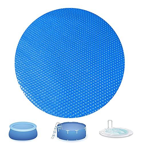Couvertures de piscines solaires pour une piscine ronde de pool et de piscine à encadrer, couverture de couverture de piscine solaire améliorée, chauffage solaire isolant à usage trimbatique,12ft/3.6m