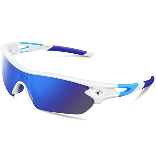 e5707a6858 TOREGE Polarized Sports Sunglasses with 5(3) Interchangeable Lenes for Men  Women Cycling Running