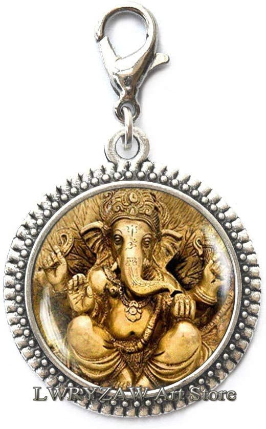 Ganesh Zipper Super sale period limited OFFicial Pull Lobster God Jewe Clasp Indian