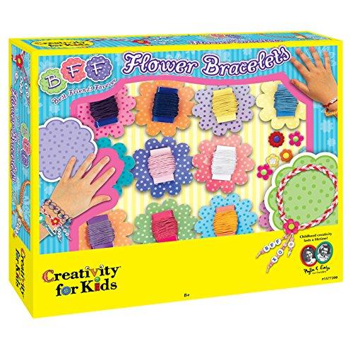 Creativity for Kids - Cfk1577 - Kit De Loisirs Créatifs - Bracelets Décorés De Fleurs BFF