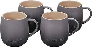 Le Creuset Stoneware Set of 4 Heritage Mugs, 13 oz. each, Oyster