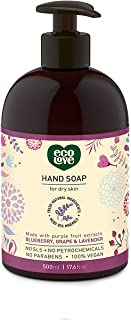 ecoLove Liquid Hand Soap with Blueberry Grape and Lavender, Vegan and Cruelty Free Natural Hand Soap, SLS Free Sulfate Fre...