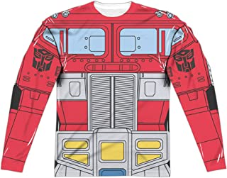 Transformers Optimus Prime Costume Unisex Adult Long-Sleeve Sublimated T Shirt for Men and Women