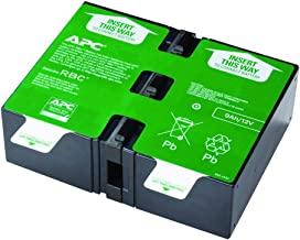 APC UPS Battery Replacement, APCRBC124, for APC UPS Models BX1500M, BR1500G, BR1300G, SMC1000-2U, SMC1000-2UC, BR1500GI, BX1500G, SMC1000-2U, SMC1000-2UC, and select others