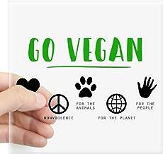 CafePress Go Vegan Sticker Square Bumper Sticker Car Decal, 3