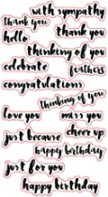 Thinking of You Congrats Love You Cheer up sentiments Phrase Cards Rubber Clear Stamp for Card Making Clear Stamp