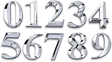 Exquisite and durable Sliver Self Adhesive Numeral Deur Plaque House Sign Plating Gate Digits 0 tot 9 Plastic Nummer Tag H...
