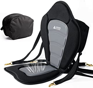Leader Accessories Deluxe Padded Kayak Seat Fishing Boat Seat with Storage Bag