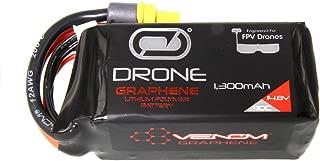 Venom Graphene 90C 4S 1300mAh 14.8V Drone Racing LiPo Battery with Universal 2.0 Plug