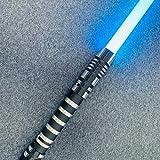 Uing Sable de luz de Star Wars, espada pesada duelo mango de metal Rgb 10 colores cambio 6 juegos de fondos de sonido Fuerza Fx Foc Blaster juguetes regalo láser