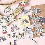 ENYOU 45 unids/set gato pegando suministros escolares, lindo gato diario álbum pegatinas papelería scrapbooking etiqueta etiqueta etiqueta etiqueta etiqueta etiqueta