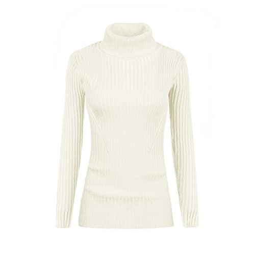 4fd8895a v28 Women's Sleeveless Ribbed High Neck Turtleneck Stretchable Knit Sweater  Top