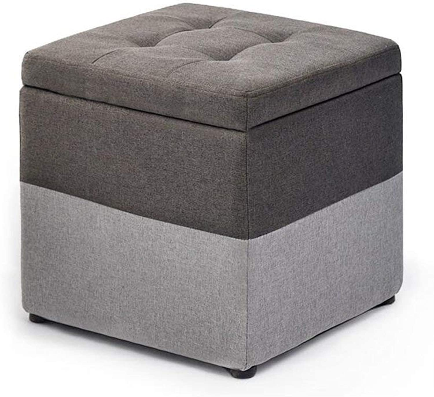 Footstool Living Room Sofa Change shoes Bench, Cushioned Small Chair Cushion Cushion Storage Stool JINRONG (color   C)