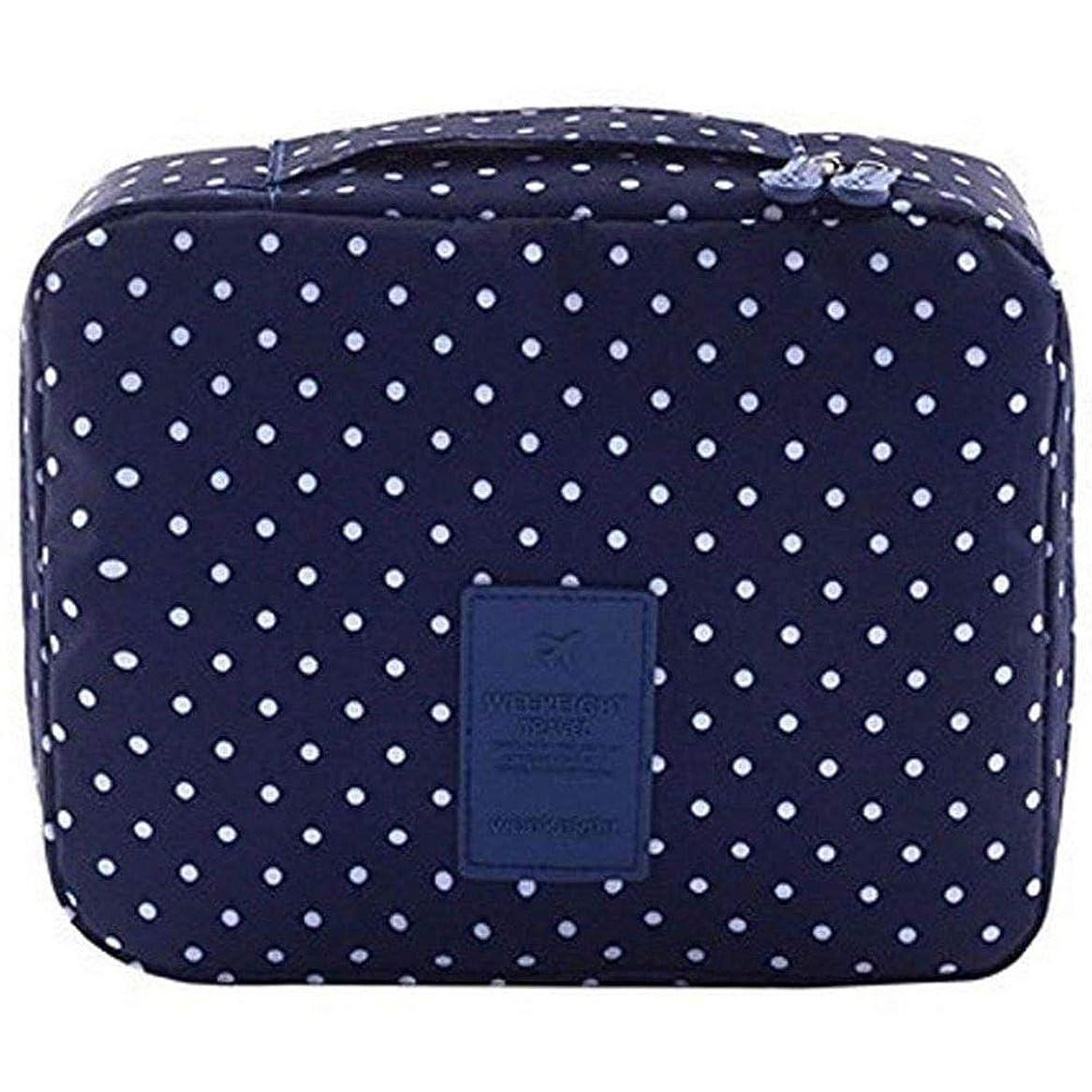 苛性州凍ったSemoic 旅行化粧品バッグ印刷多機能ポータブルトイレタリーバッグ化粧品メイクポーチ旅行用のケースオーガナイザー(海軍サークル)