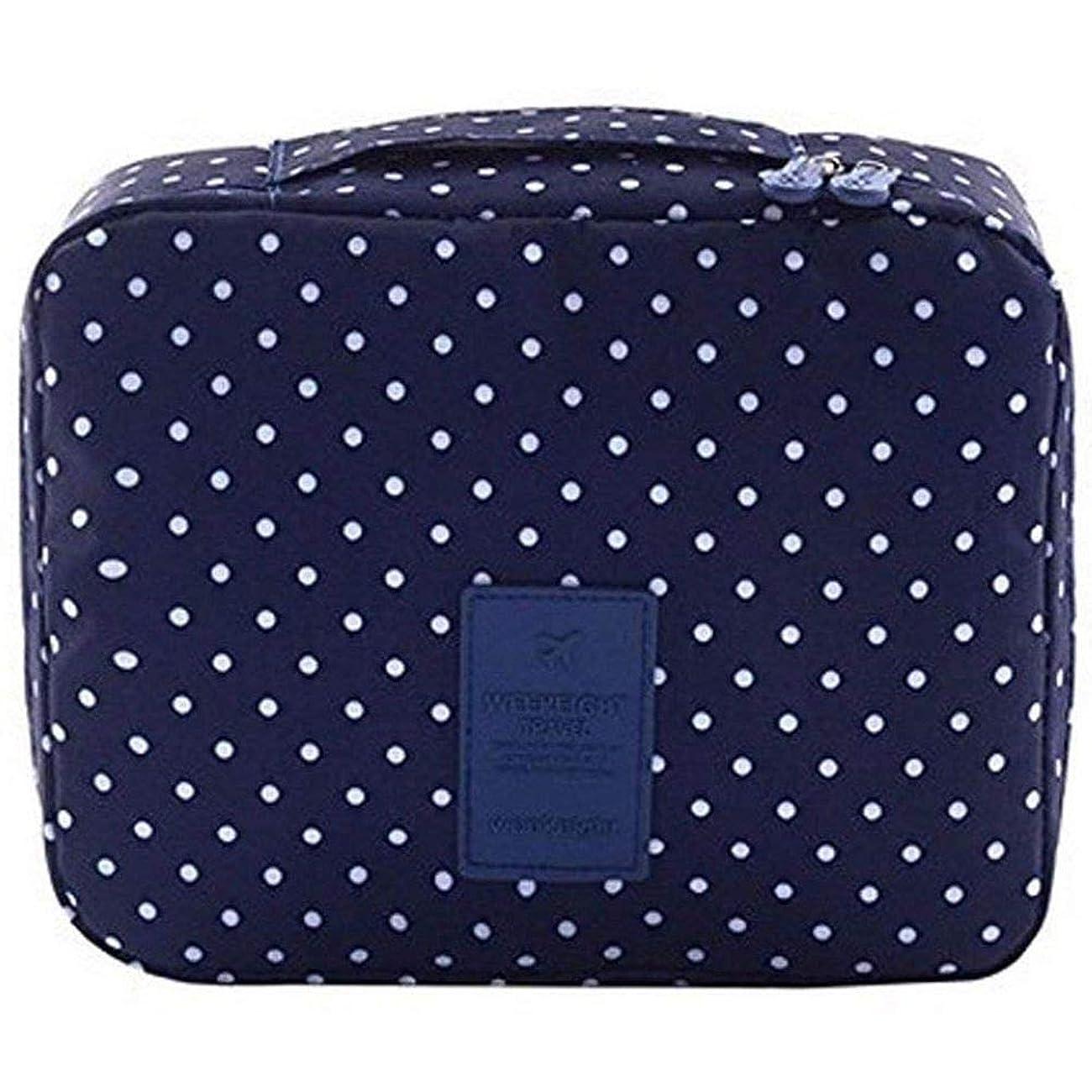 影響を受けやすいです落ち着いた矢Semoic 旅行化粧品バッグ印刷多機能ポータブルトイレタリーバッグ化粧品メイクポーチ旅行用のケースオーガナイザー(海軍サークル)