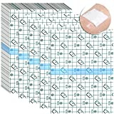 50 Pieces Shower Waterproof Patch Transparent Stretch Adhesive Bandage Large Shower Protector Cover Shower Shield Waterproof Dressing Transparent Film Adhesive Bandages, 6 x 8 Inch