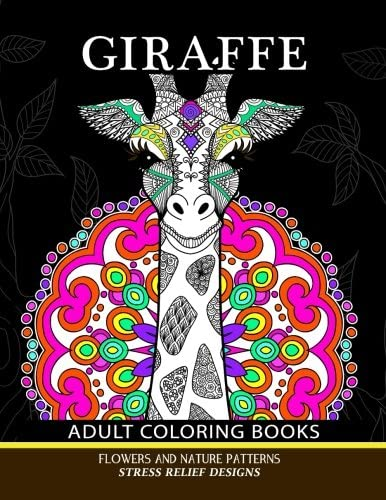 Giraffe Adults Coloring Books Giraffe Flower and Mandala Pattern for Relaxation and Mindfulness product image
