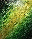 Abstrakte Malerei : Grüne Messerbeschaffenheit (61 x 50 cm).