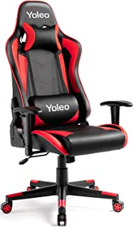Gaming Chair - Yoleo Ergonomic Office Gamer Chair High Back, Computer Gaming Chair Backrest & Seat Height Adjustment, Exec...