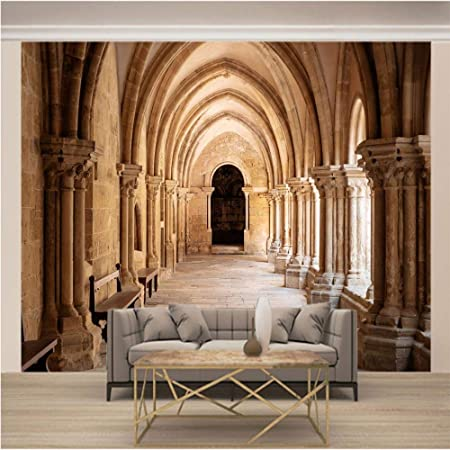 YTJBEI Photo Wallpaper Wall Mural -European Architecture Non Woven Wall Mural Adults and Children Teen´s Room Office for Bedrooms 3D Mural Wall Decoration 200 X 170 cm