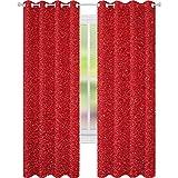 YUAZHOQI Cortinas de fondo rojo arena una textura de 132 x 182 cm para sala de estar