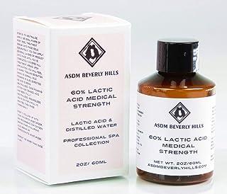 ASDM Beverly Hills PRO Medcial Grade New Lactic Acid Peel 60% 2oz/60ml AHA Alpha Hydroxy Chemical Peel Treatment,Alpha Hydroxy/hyperpigmentation,age spots,melasma,Discoloration,fine line /Rough dull