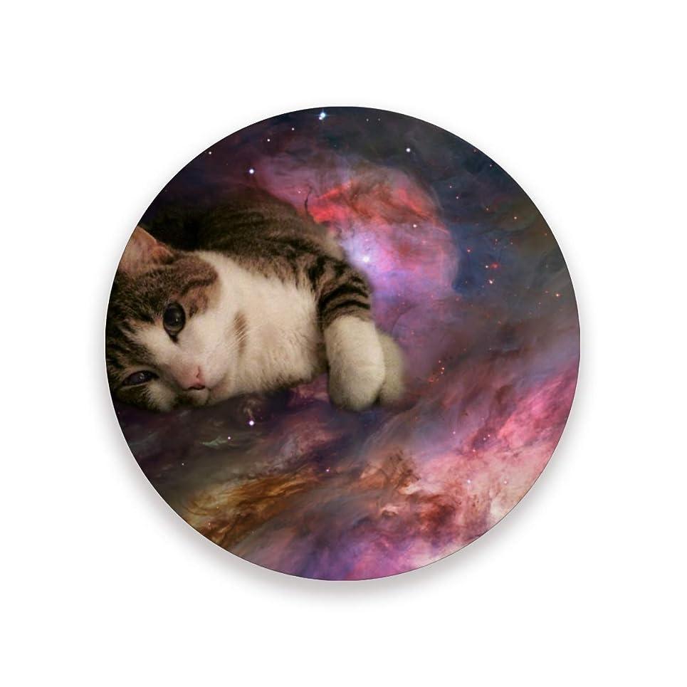 承知しましたきれいにペットコースター おしゃれ 茶パッド 可愛いの猫 滑り止め エコ 速乾 抗菌 消臭 2枚セット