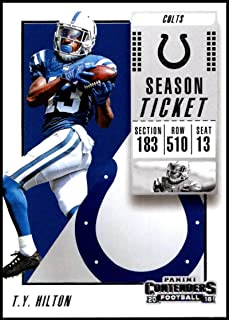 2018 Contenders NFL Season Ticket (Base) #57 T.Y. Hilton Indianapolis Colts Official Football Trading Card made by Panini