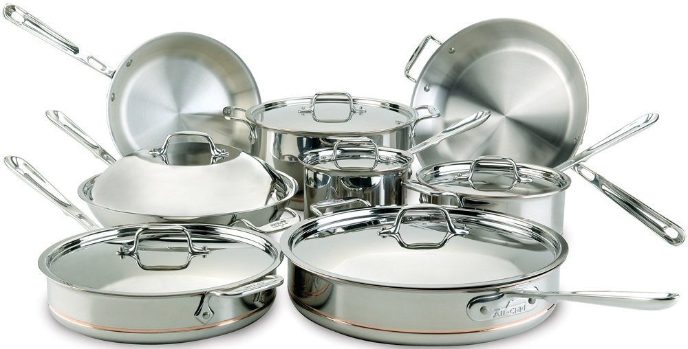 All Clad Copper Dishwasher Cookware 14 Piece