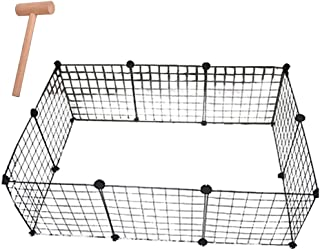 GULIQ Metal Pet Playpen Animal Fence Cage Expandable DIY Wire Cage Kennel Dog Hutchfor for Small/Medium Bunny Guinea Pig R...