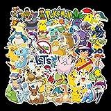Pikachu Pokémon Lot de 50 autocollants Pokémon pour trottinette électrique