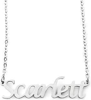 Scarlett Silver Tone Name Necklace