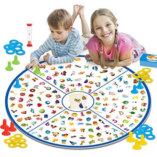REMOKING Brettspiel, Kartenspiel, Kleiner Detektiv Tischspiel für Kinder, Familien Party, Matching-Spiele Spielzeug Geschenk, Memory Lernspielzeug für Jungen Mädchen 3+ Jahre alt