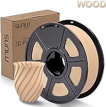 SUNLU Wood 3D Printer Filament 1.75mm PLA Filament 1KG Spool for 3D Printing, Dimensional Accuracy +/- 0.02 mm, Real Wood Filament
